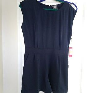 NWT Vince Camuto Navy Romper S